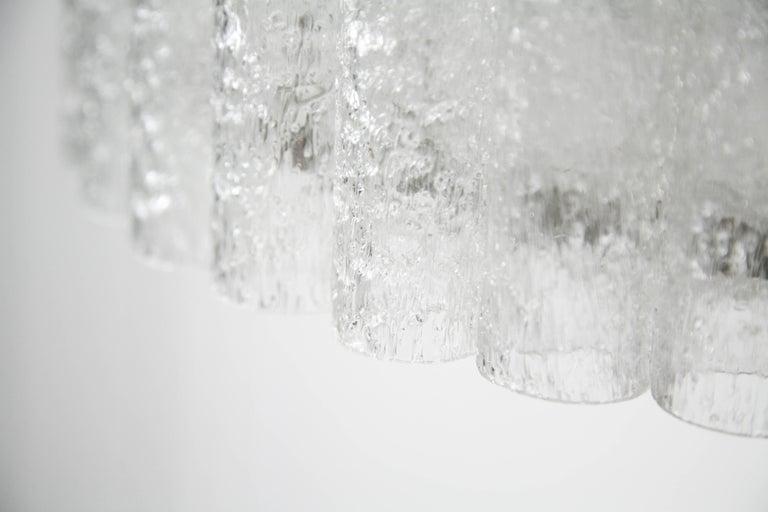 Doria Tubular Glass Chandelier, 1960s For Sale 4
