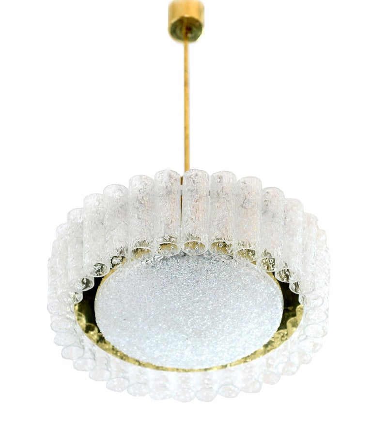 Doria Tubular Glass Chandelier, 1960s For Sale 8