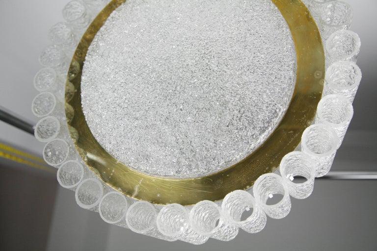 Mid-Century Modern Doria Tubular Glass Chandelier, 1960s For Sale