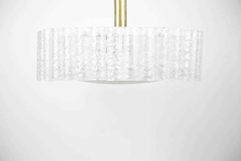 German Doria Tubular Glass Chandelier, 1960s For Sale