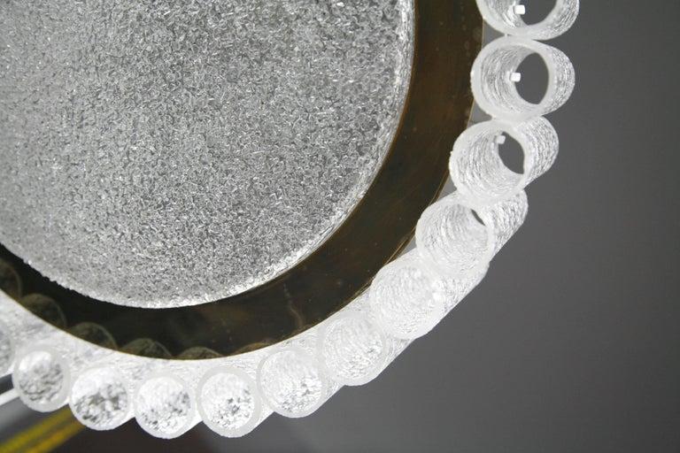 20th Century Doria Tubular Glass Chandelier, 1960s For Sale