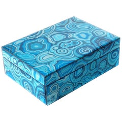 Dorian Box in Blue Ceramic by Curatedkravet