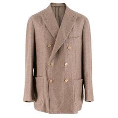 Doriani Brown Canapa & Wool-blend Weaved Blazer SIZE 52