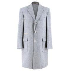 Doriani Single Breasted Cashmere Coat - Size Medium