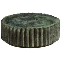 Doris Cast Bronze Multifaceted Coffee Table with Tuscan Green Patina