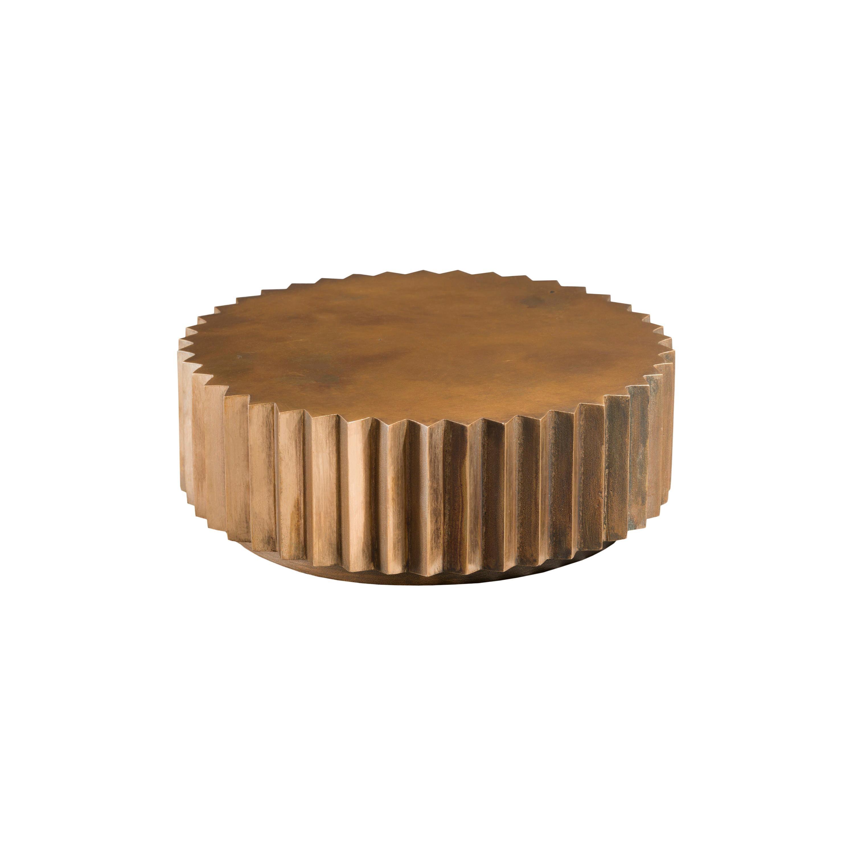 Doris Cast Oxidized Bronze Multifaceted Coffee Table
