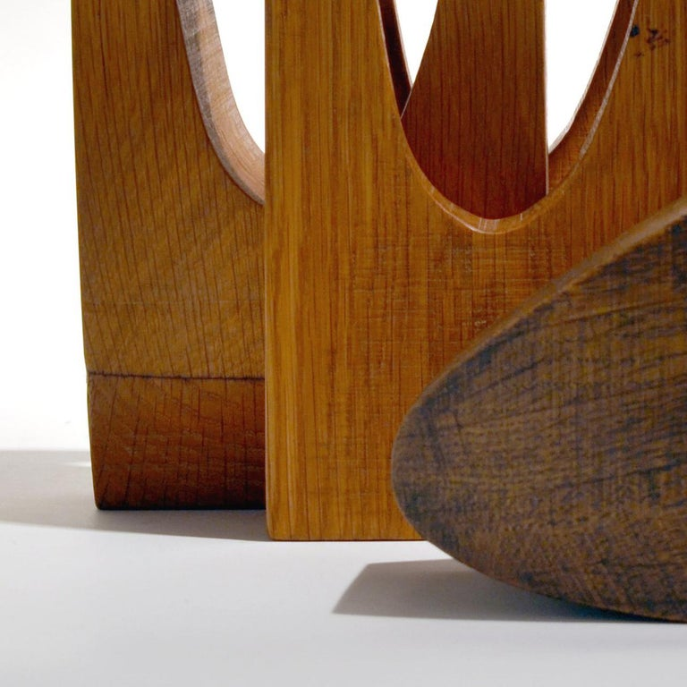 Interlock - Brown Abstract Sculpture by Doris Chase