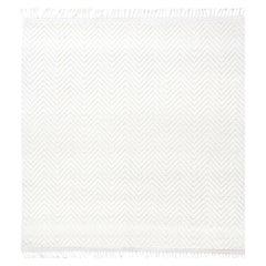 Doris Leslie Blau, Bauer Collection White Herringbone Design Modern Wool Rug II