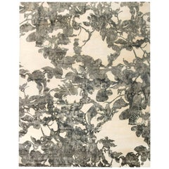 Doris Leslie Blau Collection Abstract Design Eskayel Tibetan Black and White Rug
