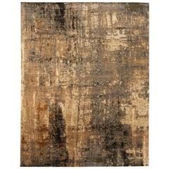 Doris Leslie Blau Collection Abstract 'Digital Age' Handmade Wool and Silk Rug