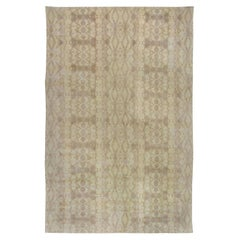 Doris Leslie Blau Collection Abstract Taupe and Beige Handmade Wool Rug