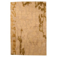 Doris Leslie Blau Collection 'AD4' Golden Beige and Brown Rug by Arthur Dunnam
