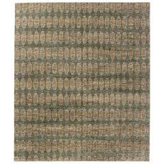 Doris Leslie Blau Collection Aegean Green Handmade Wool Rug by Bunny Williams