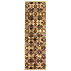 Doris Leslie Blau Collection Art Deco Handmade Wool Runner in Dots