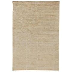 Doris Leslie Blau Collection Art Deco Style Line Design Carpet in Soft Beige