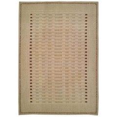 Doris Leslie Blau Collection Aubusson Art Deco Beige Wool Rug by Arthur Dunnam