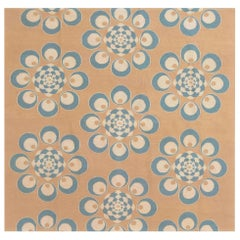 Doris Leslie Blau Collection Aubusson Design Rug in Blue and Brown