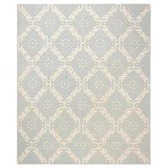 Doris Leslie Blau Collection Aubusson Design Rug in Blue and White