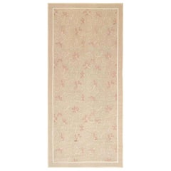 Doris Leslie Blau Collection Aubusson Rug by Eric Cohler in Beige and Pink