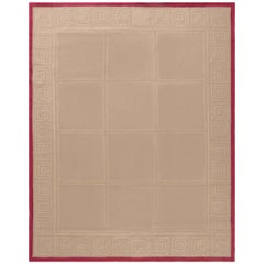 Doris Leslie Blau Collection Aubusson Rug by Mariette Himes Gomez in Brown & Red
