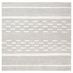 Doris Leslie Blau Collection Bauer Geometric Wool Rug I in Beige and Black