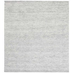 Doris Leslie Blau Collection Bauer Minimalist Design Light Gray Wool Rug III