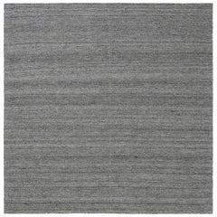 Doris Leslie Blau Collection Bauer Minimalist Gray Handmade Wool Rug I