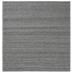 Doris Leslie Blau Collection Bauer Pattern Less Design Gray Wool Rug II