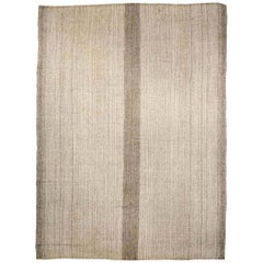 Doris Leslie Blau Collection Beige and Brown Persian Kilim Wool Rug