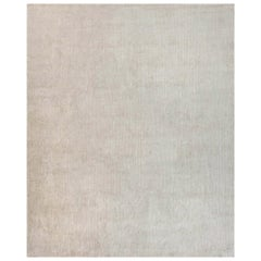 Doris Leslie Blau Collection Beige Handmade Wool and Silk Rug