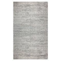 Doris Leslie Blau Collection Black and White Handmade Wool Rug