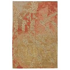 Doris Leslie Blau Collection Blossom Design Handmade Wool and Silk Rug