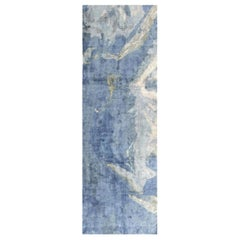 Doris Leslie Blau Collection Blue Sea and Sand Hand Knotted Silk Runner