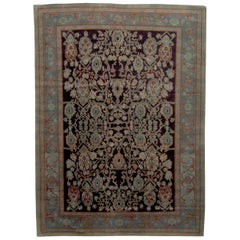 Doris Leslie Blau Collection Botanic Blue, Beige, Green and Black Egyptian Rug