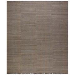 Doris Leslie Blau Collection Brown Flat-Weave Kilim Rug