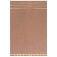 Doris Leslie Blau Collection Brown & White Aubusson Design Rug by Diana Sawicki