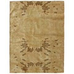 Doris Leslie Blau Collection Chestnut Brown Handmade Silk Rug