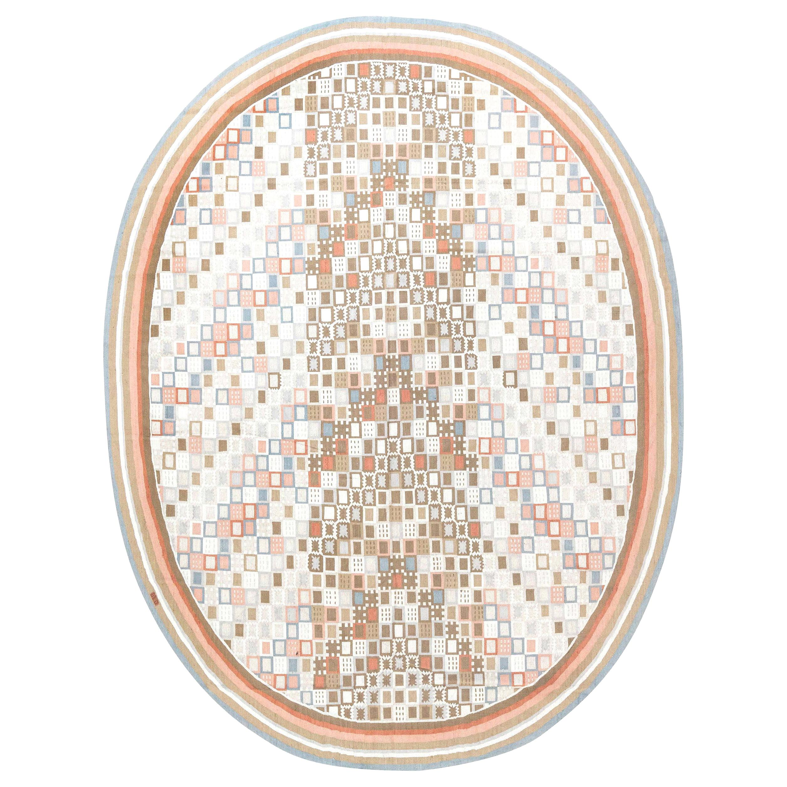 Doris Leslie Blau Collection Circular Swedish Inspired Rug