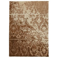 Doris Leslie Blau Collection Contemporary Abstract Design Rug in Brown and Beige