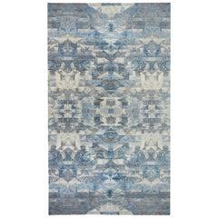 Doris Leslie Blau Collection Contemporary Art Deco Design Blue, Gray Wool Rug