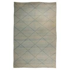 Doris Leslie Blau Collection Contemporary Beige, Blue Deux Diamond Design Rug II