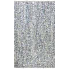 Doris Leslie Blau Collection Contemporary Blue, White Flat-Weave Wool Rug