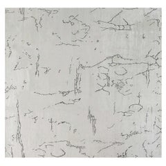 Doris Leslie Blau Collection Contemporary Silk Rug in Beige and Black