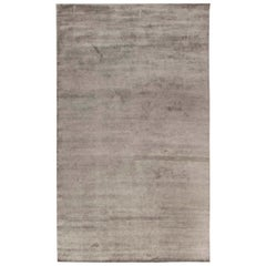Doris Leslie Blau Collection Contemporary Silver Handmade Wool Rug