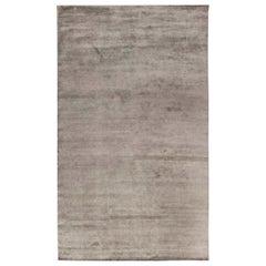 Doris Leslie Blau Collection Contemporary Silver Handmade Wool Rug