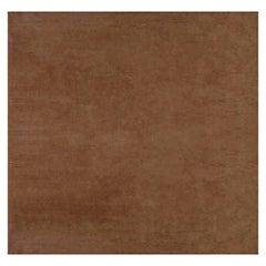 Doris Leslie Blau Collection Contemporary Solid Brown Handmade Mohair Rug