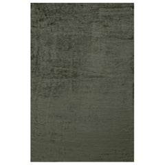 Doris Leslie Blau Collection Contemporary Solid Steel Gray Hand Knotted Silk Rug