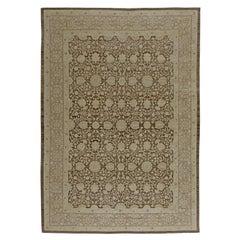 Doris Leslie Blau Collection Contemporary Tabriz Beige, Brown Wool Rug