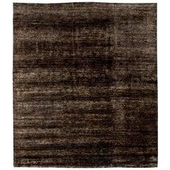 Doris Leslie Blau Collection Custom Brown Hand Knotted Hemp Carpet