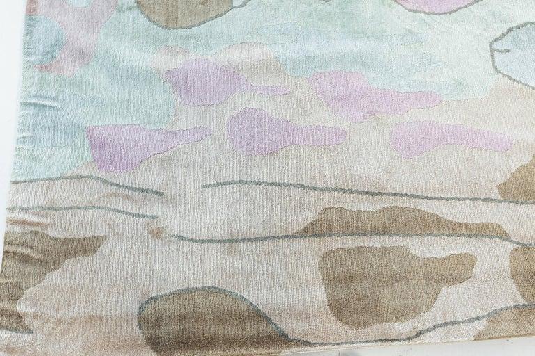 Doris Leslie Blau Collection Dhalia silk rug Size: 12'7